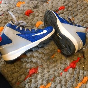 Nike Shoes - Child Blue and Gray NIKE Team Hustle D7 sneakers.